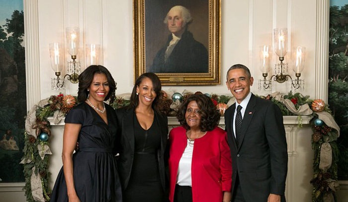 Party: DeDe McGuire And Her Mom At The White House