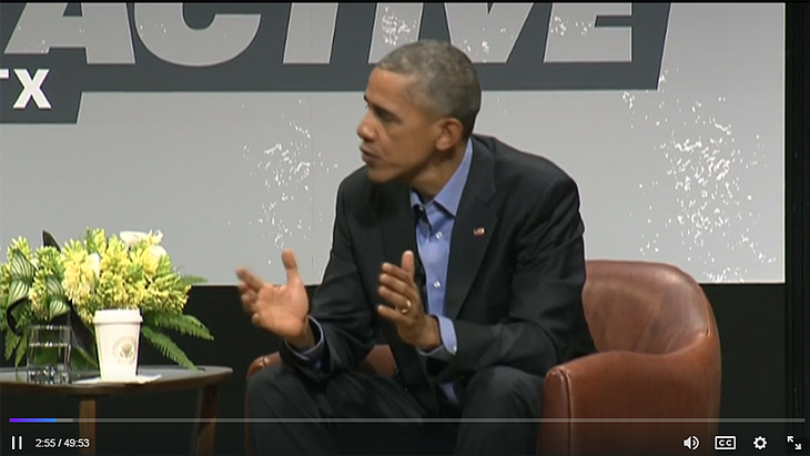 President Obama Talks Technology At SXSW In Austin, TX