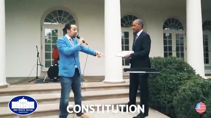 Hamilton Freestyle Raps With President Obama