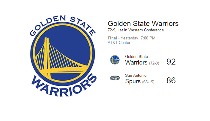"Excellence ""Golden State Warriors"""