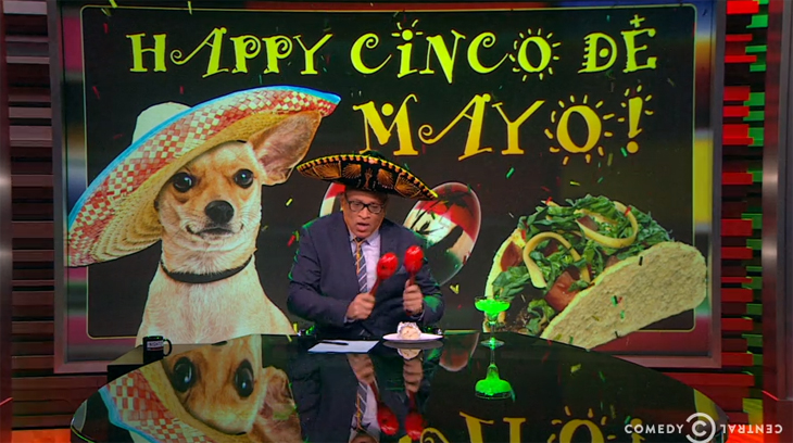 Larry Wilmore Celebrates Cinco de Mayo