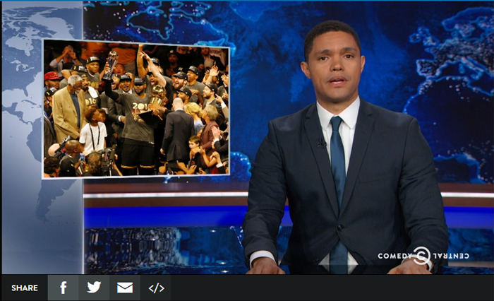 The Daily Show Talks About Cavs Win