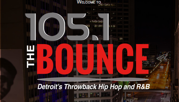 All New 105.1 The Bounce, Detroit's Throwback Hip Hop and R&B
