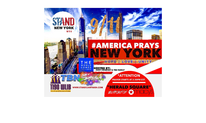 9/11 Rally In New York Hearld Square