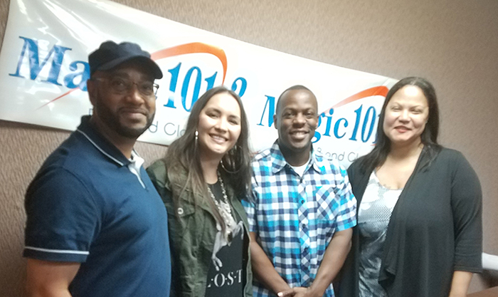 Rosalee at Magic 101.3 Louisville with Nat Martin, DJ Q & Double M