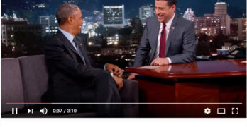 The President Talks Politics With Kimmel