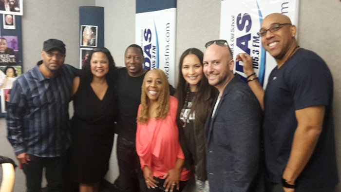 Nat Marti, Marlo Martin-Jackson, DJ Doc B. PD for WUSL, Patty Jackson of WDAS, and Rosalee, Darren Sherr, and DC OM iHeartMedia Philly.