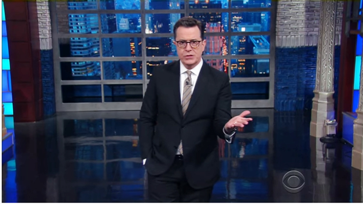 Stephen Colbert Explains Senate Rule That Silenced Elizabeth Warren: