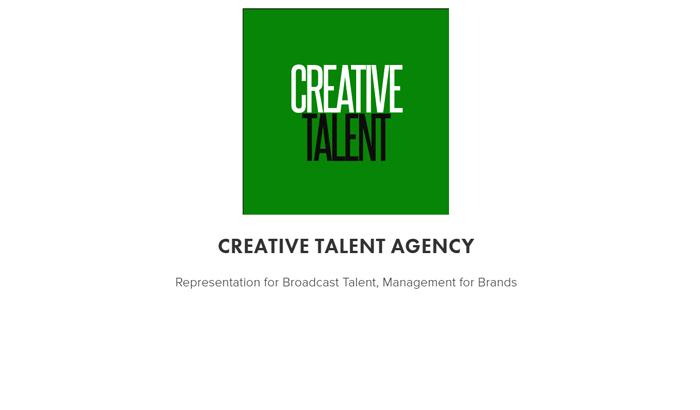 Representation For Broadcast Talent, Management For Brands