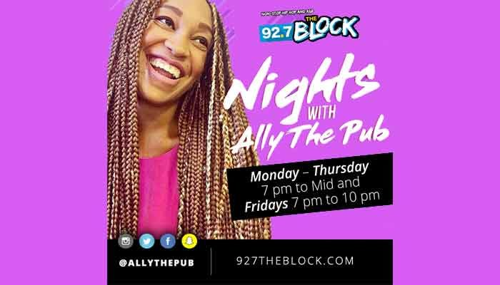 """Ally The Pub Joins Charlotte's """"92.7 The Block"""""""