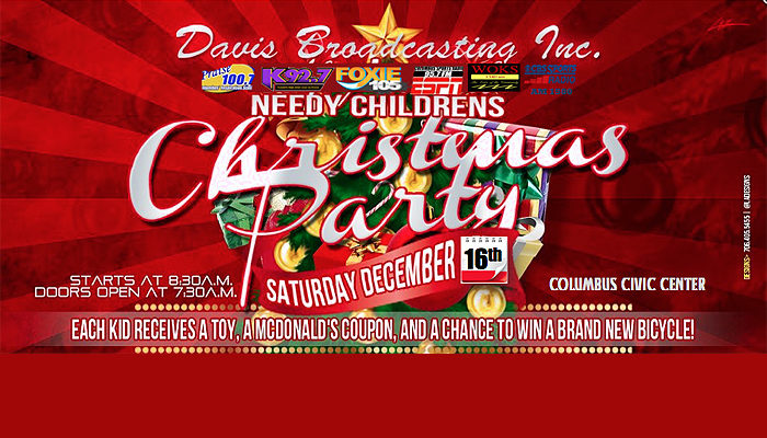 Davis Broadcasting Hosts Children's Christmas Party